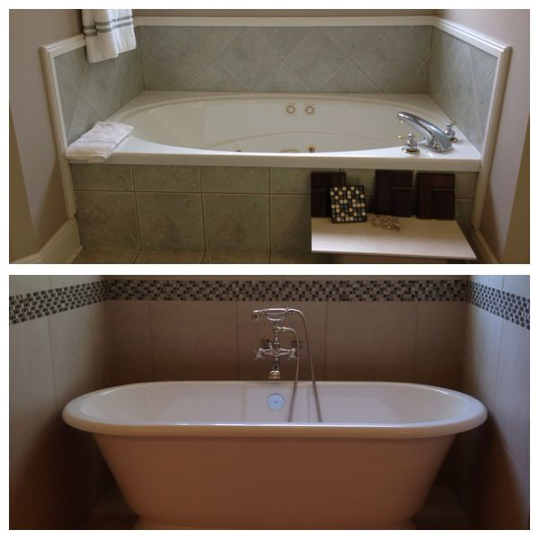 Taking Out The Old Jacuzzi Tub And Replacing It With This Gorgeous Freestanding Tub Made The Space Feel Larg