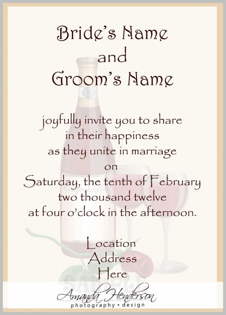 Wedding Invitation Wording - What to Say in the Wedding Invitation ...