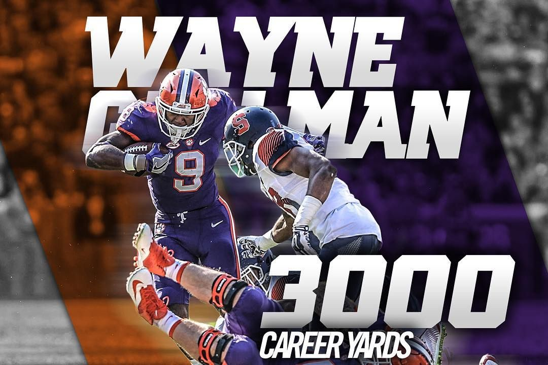 Only the sixth player in Clemson history to reach 3,000