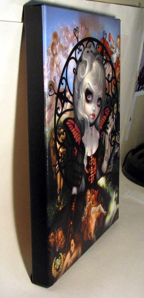 Unseelie Court Lust Seven Deadly Sins by Jasmine Becket-Griffith gothic fairy by Jasmine Becket-Griffith new contemporary art lowbrow art sin lust 7 sins