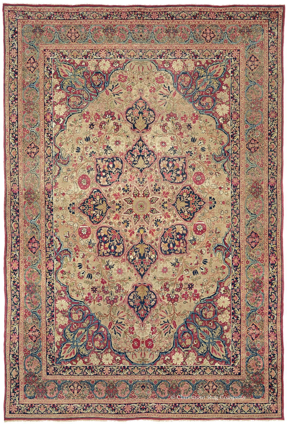 Laver Kirman Southeast Persian 7ft 10in X 11ft 5in Circa 1875 Rugs On Carpet Rugs Persian Rug Designs