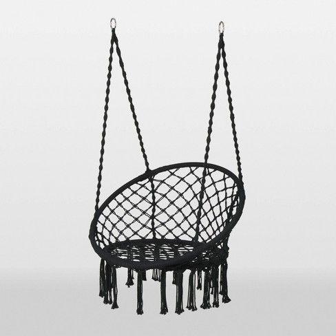 Hanging Rope Hammock Chair Black - Opalhouse™ : Target ...