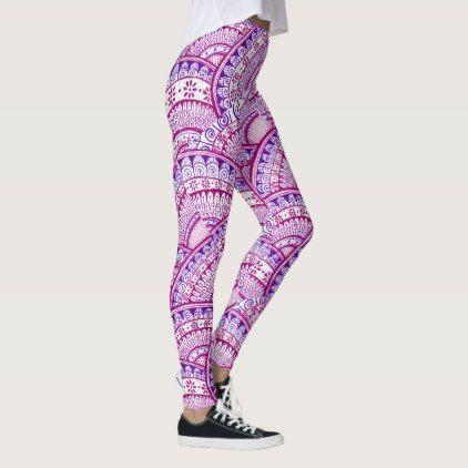 Beautiful Yoga Zen Mermaid Peacock Mandala Pattern Leggings - pattern sample design template diy cyo customize