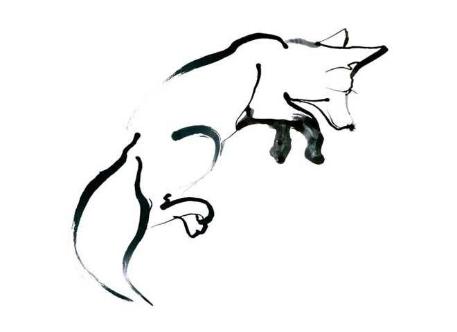 Wildlife Illustration Ink Black And White Eri Griffin Illyustracii Lisy Risunki Illyustracii