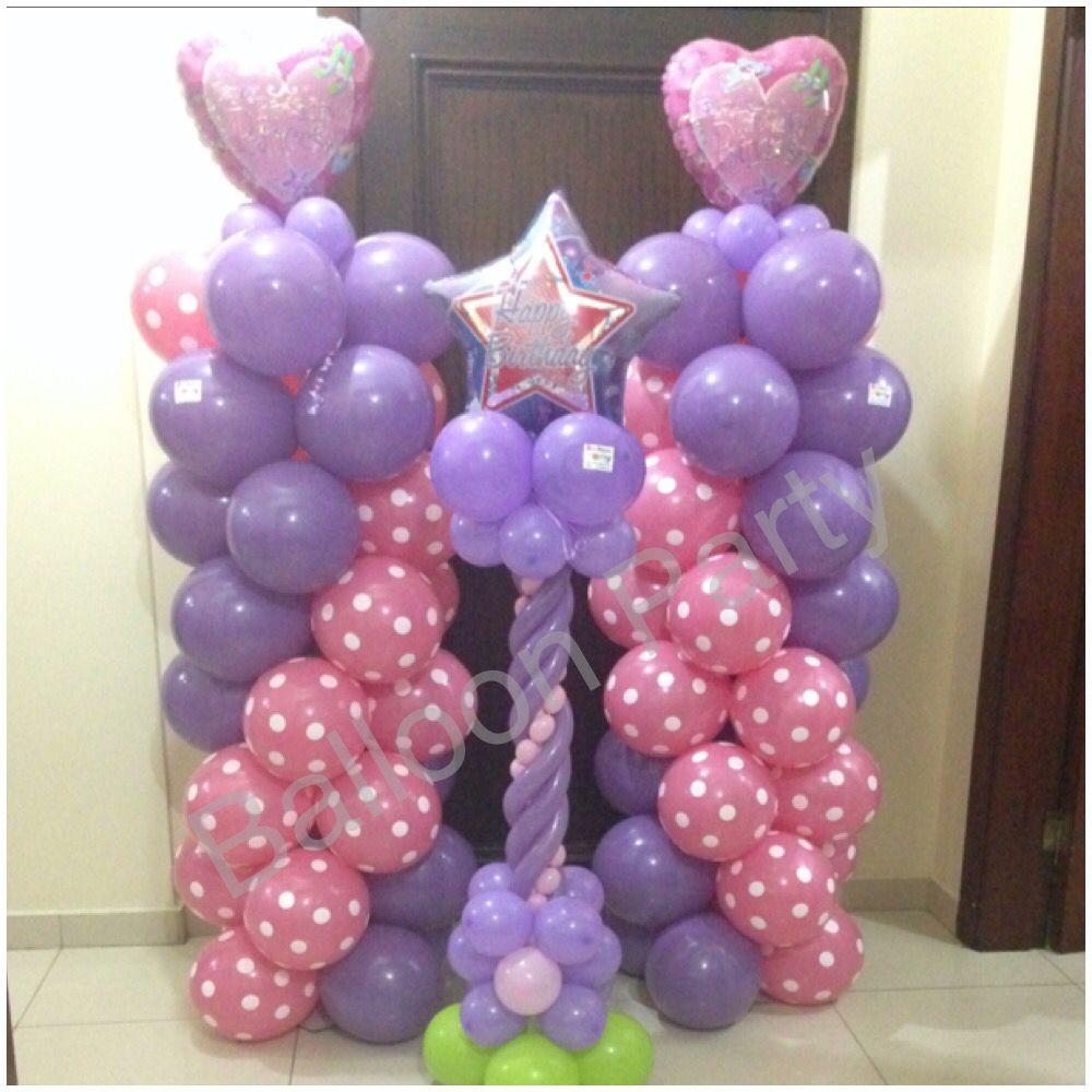 Princess column birthday