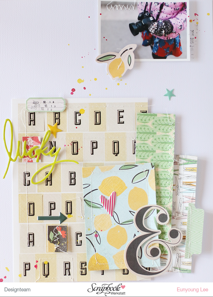 PHOTO + PAPER + STAMP = CRAFTTIME!!!: LAYOUT - LUCKY