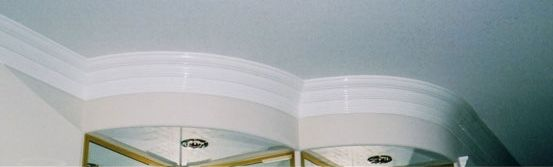 Flexible Rubber Curved Crown Cornice Mouldings For Curved Walls Installations Toronto Molding Installation Wall Installation Curved Walls