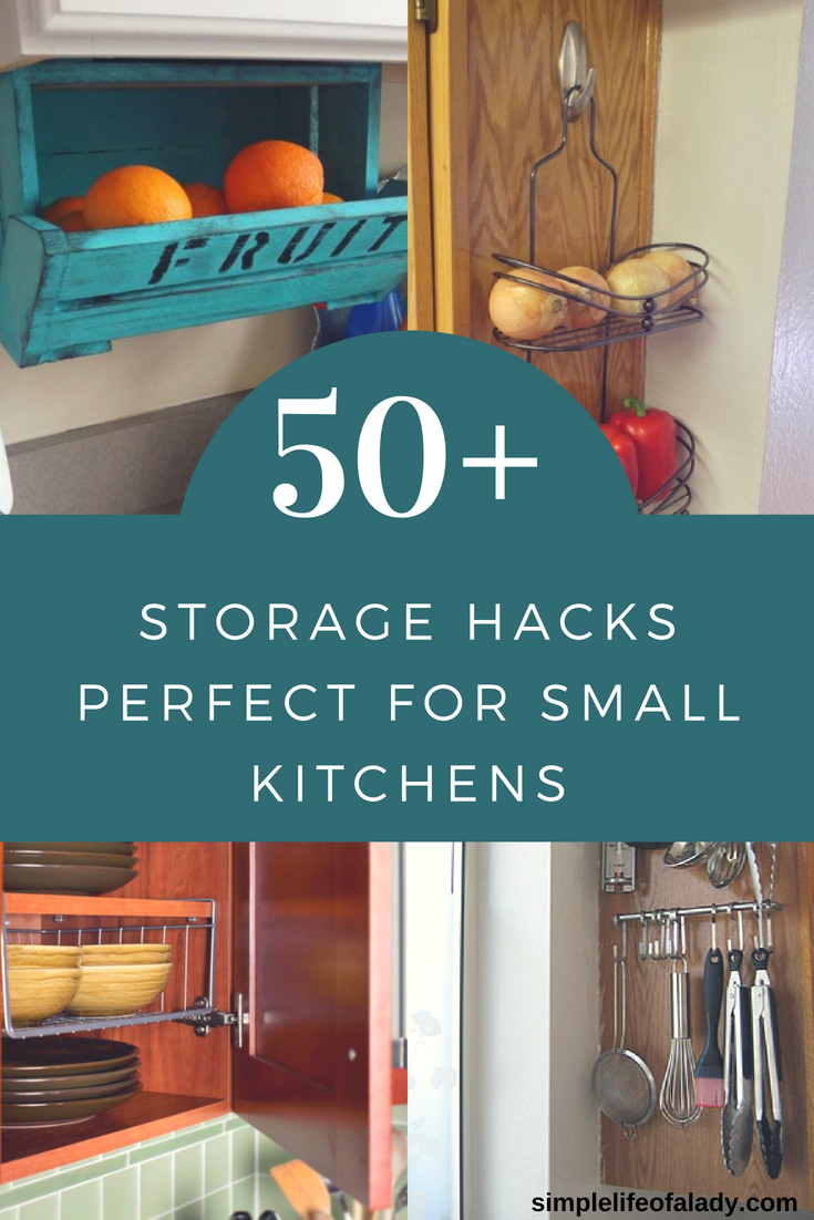 50+ Clever Storage Hacks to Maximize Small Kitchens | camping tricks ...