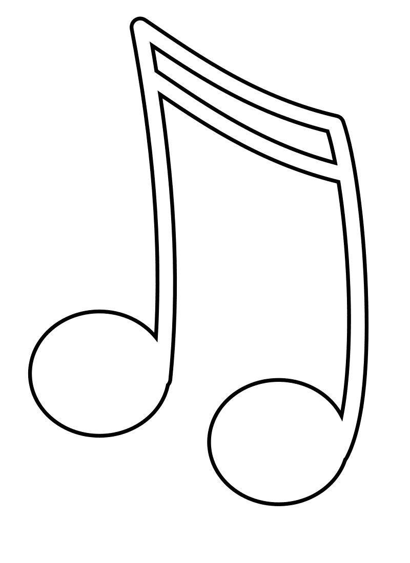 Music notes are interesting subjects to feature on coloring pages ...