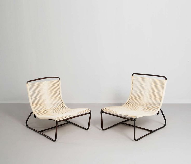 For Sale on - Bronze Walter Lamb lounge chairs for Brown Jordan, nice  examples of modernist design from California.