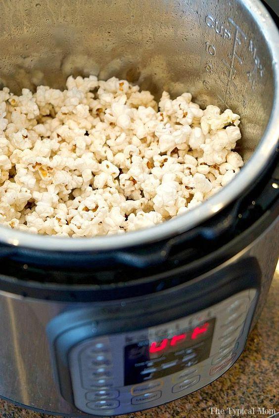 Instant Pot Popcorn (Homemade Popcorn
