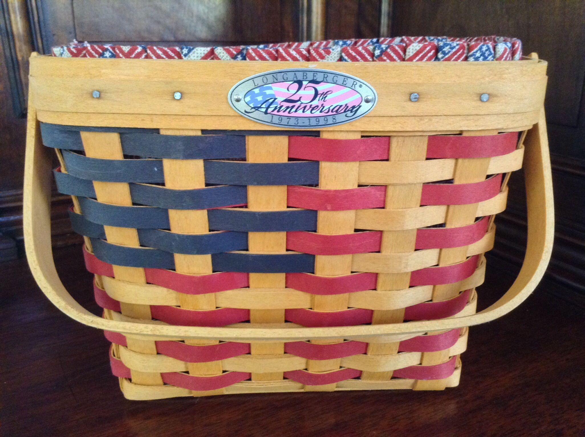 Longaberger 25th Anniversary Basket