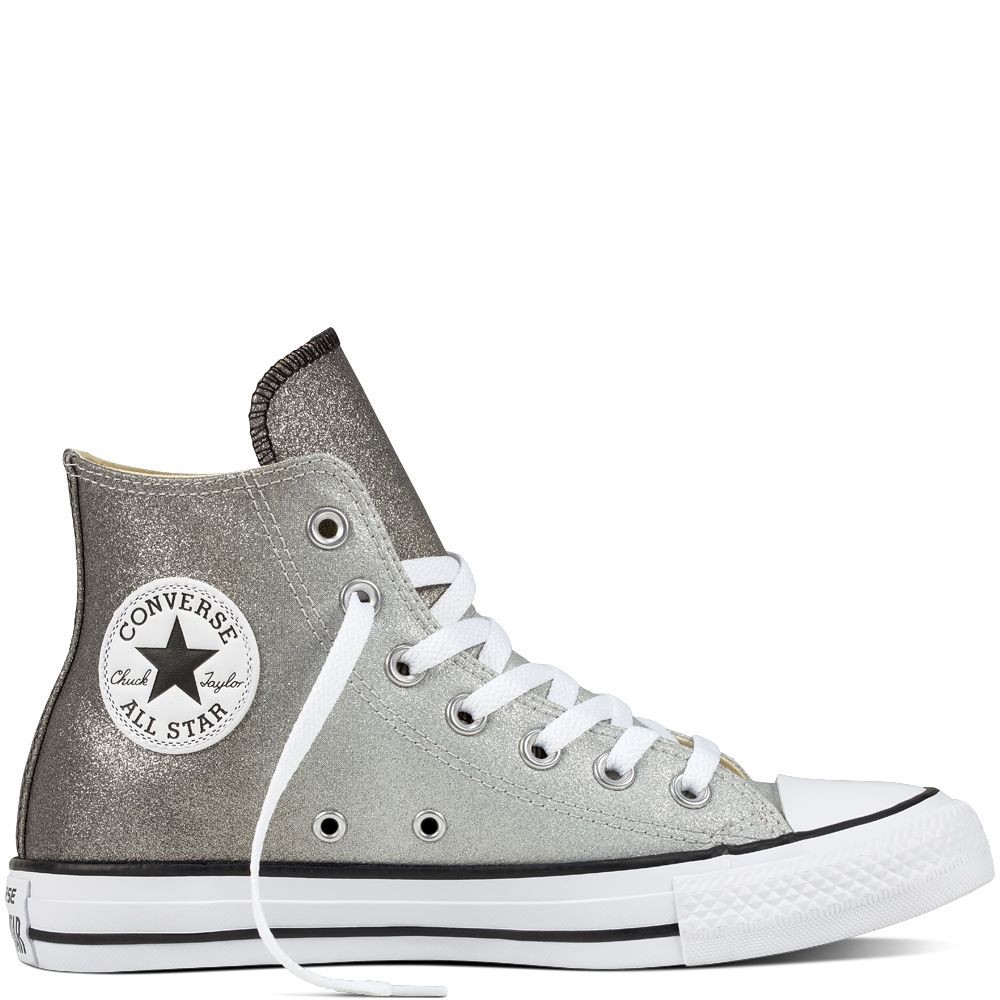 Chuck Taylor All Star Ombre Metallic Ash GreyBlackWhite