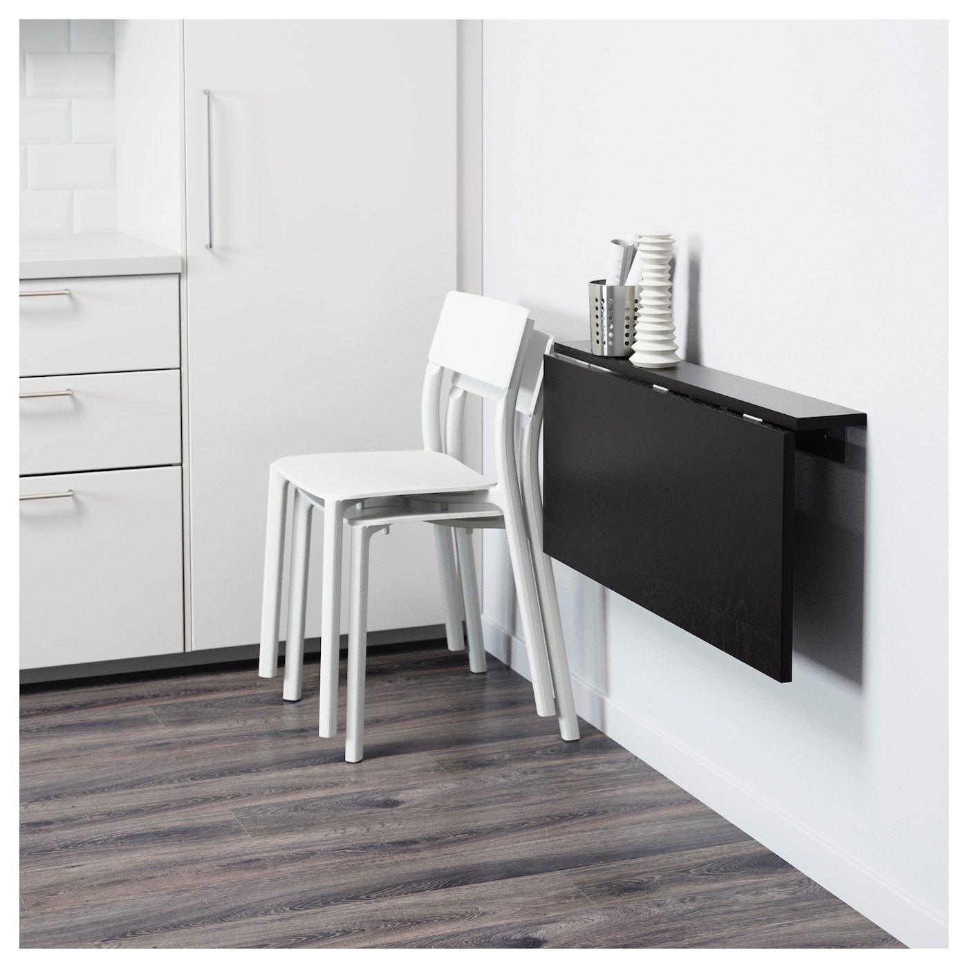 Bjursta Klaptafel Voor Wandmontage Bruinzwart Ikea Drop Leaf Table Fold Down Desk Drop Leaf Desk