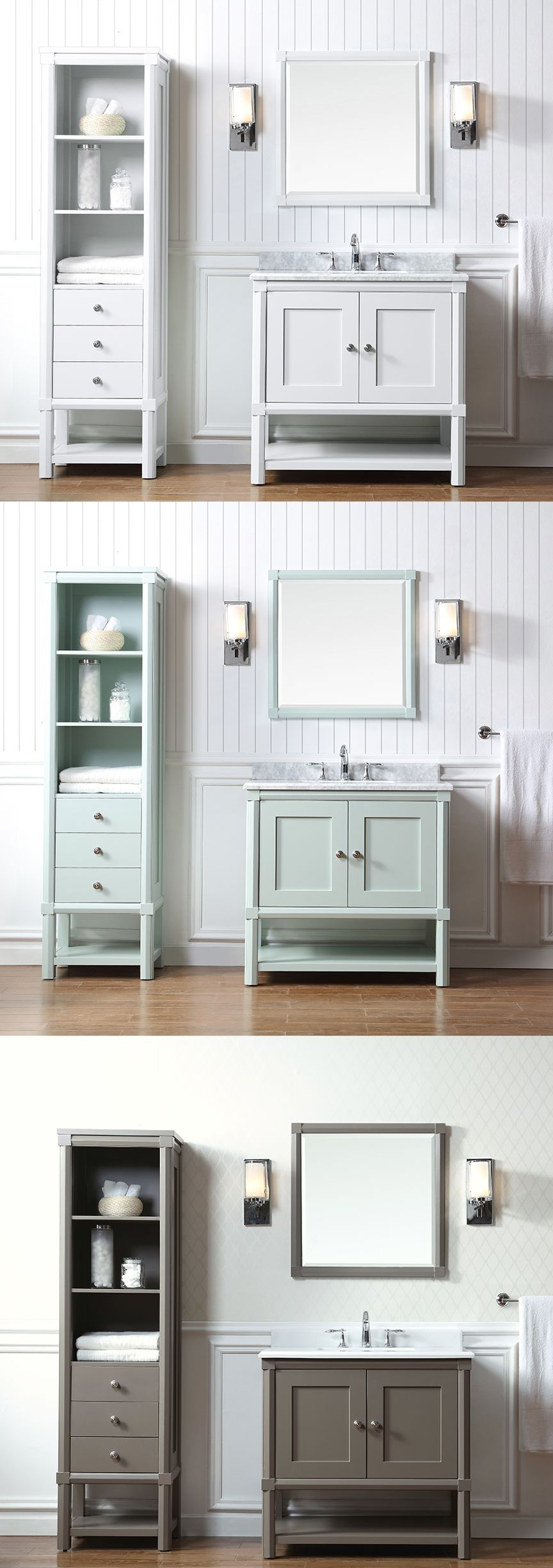 Gray bathroom vanities on pinterest view more bathrooms 187 bathroom - The Martha Stewart Living Sutton Bath Vanity Collection Only At Homedepot Comes In A Variety