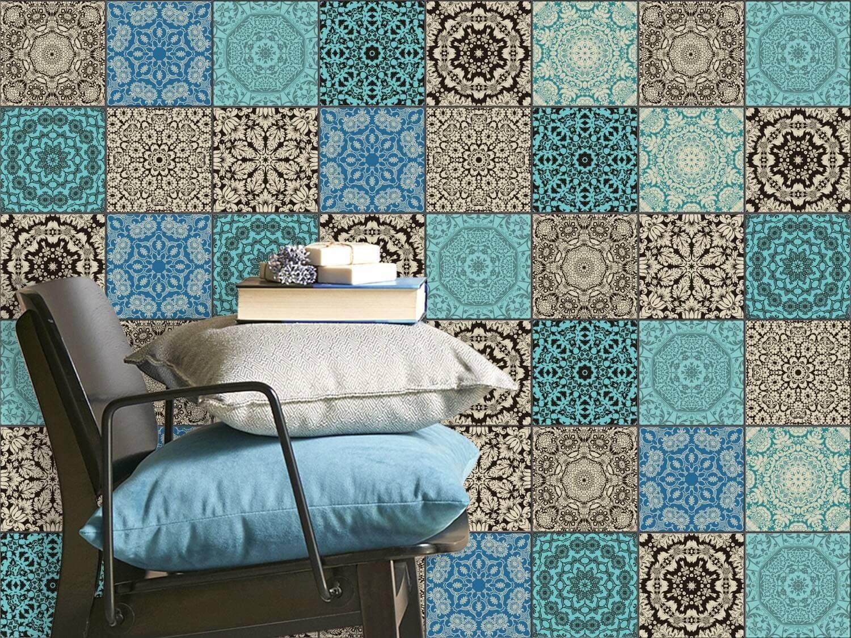 fliesenaufkleber fliesenspiegel gro es set marokkanische fliesen folien pinterest. Black Bedroom Furniture Sets. Home Design Ideas