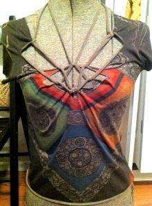 Adam Saaks cut up t shirt diy