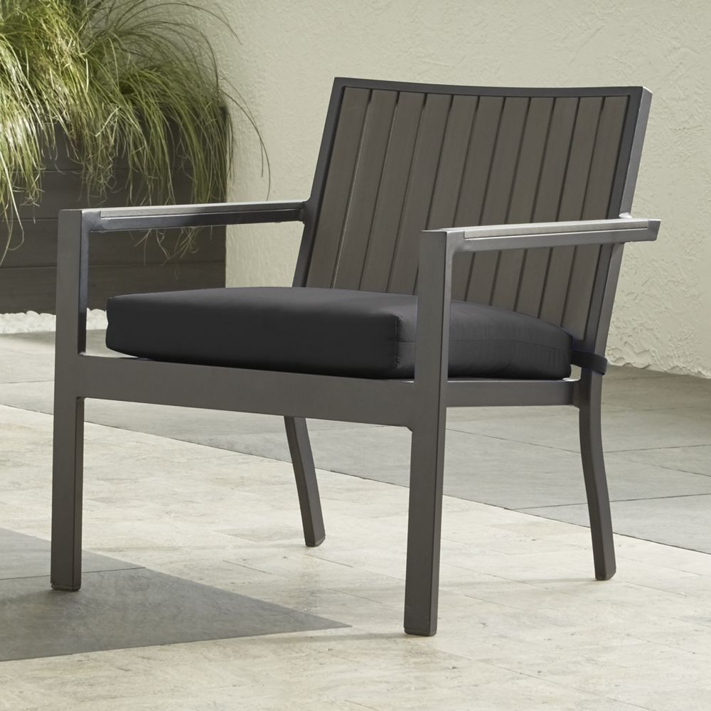 Alfresco grey lounge chair with sunbrella 3 cushion