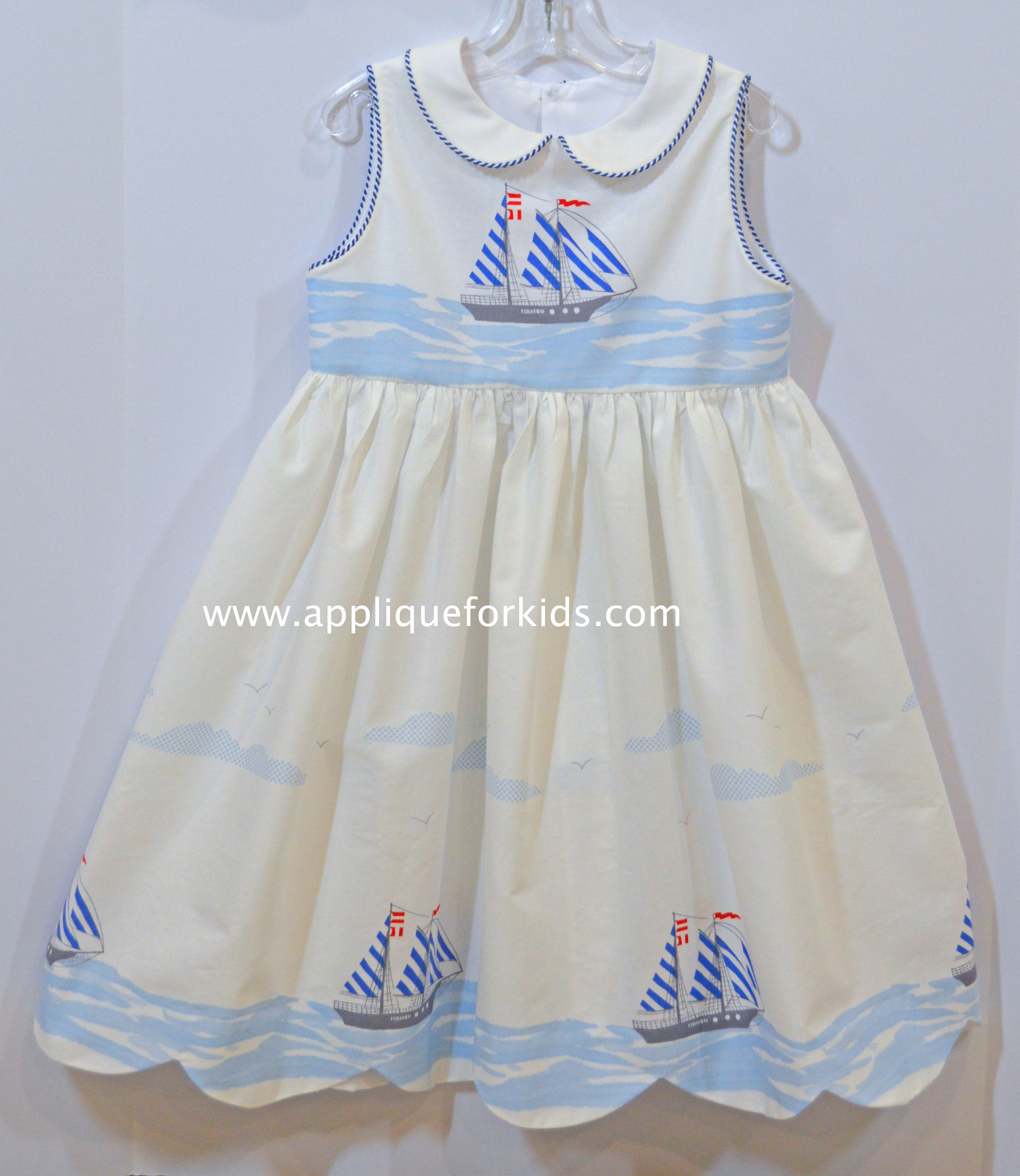 Fun Summer Dress Fabric Is By Michale Miller I Scalloped The Hemline To Look Like Waves Childrens Clothes Best Summer Dresses Girl Outfits [ 3862 x 3348 Pixel ]