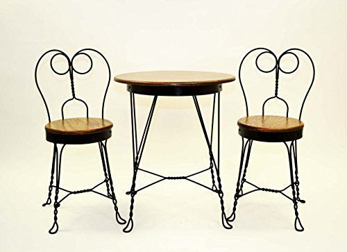 Antique Reproduction Ice Cream Parlor Furniture Set Table