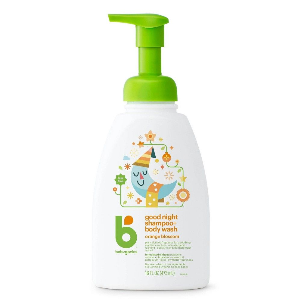 Babyganics Night Time Baby Shampoo Body Wash Orange Blossom 16 Fl Oz Pump Bottle Adult Unisex In 2020 Shampoo Body Wash Baby Shampoo Babyganics