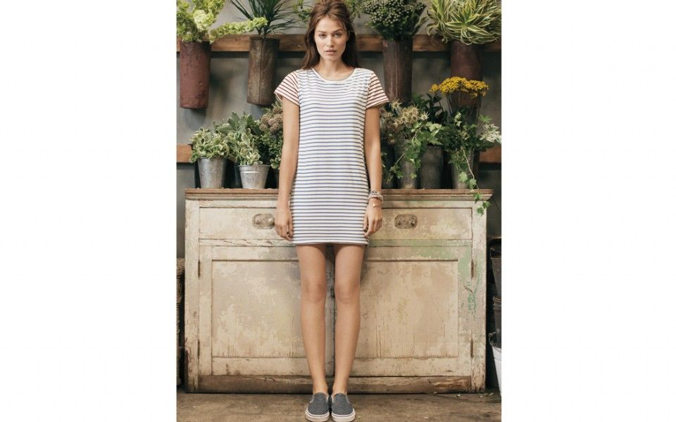 Shift Dress in Mediterranean/Fig Stripe Spring 2014 @ the lady & the sailor | Crafted in the USA