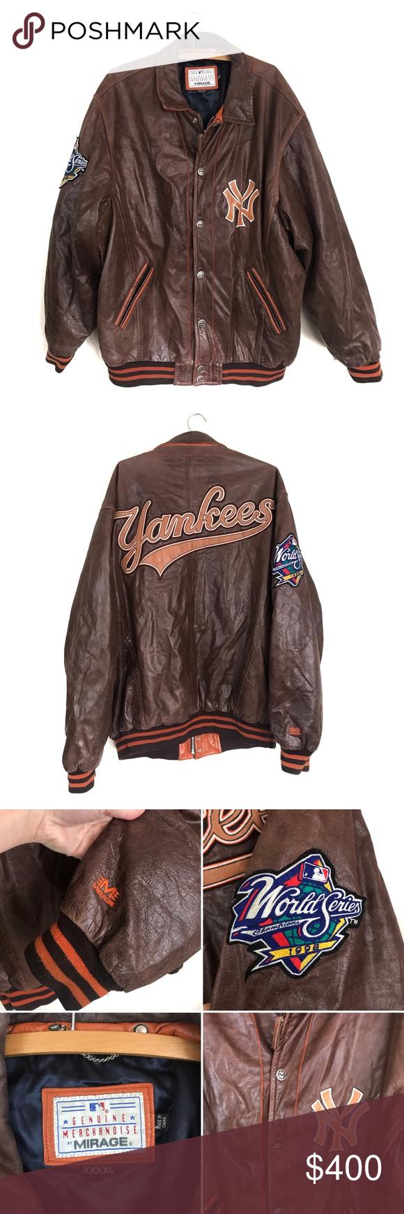 1998 Yankees World Series Leather Jacket Xxxxl Yankees 1998 World Series Champions Brown Leather Jacke Leather Jacket Brown Leather Jacket Yankees World Series [ 1740 x 580 Pixel ]