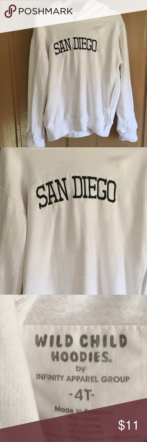 4t San Diego Zoo Hooded Panda Hoodie 4t San Diego Zoo Hooded Panda