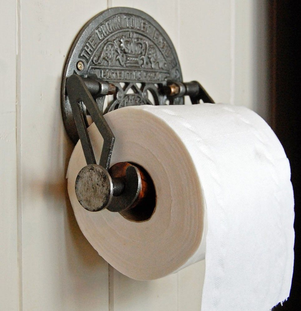 lovely idea single post toilet paper holder. Bowley  Jackson Antique design vintage toilet roll holder