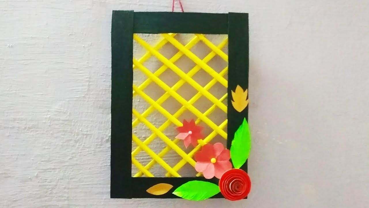 Diy wallhanging with newspaper wall decor idea with paper diy