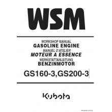kubota gs160 3 gs200 3 diesel engines workshop manual 9y011 00821 rh pinterest com Kubota V1902 Manuals Kubota Parts