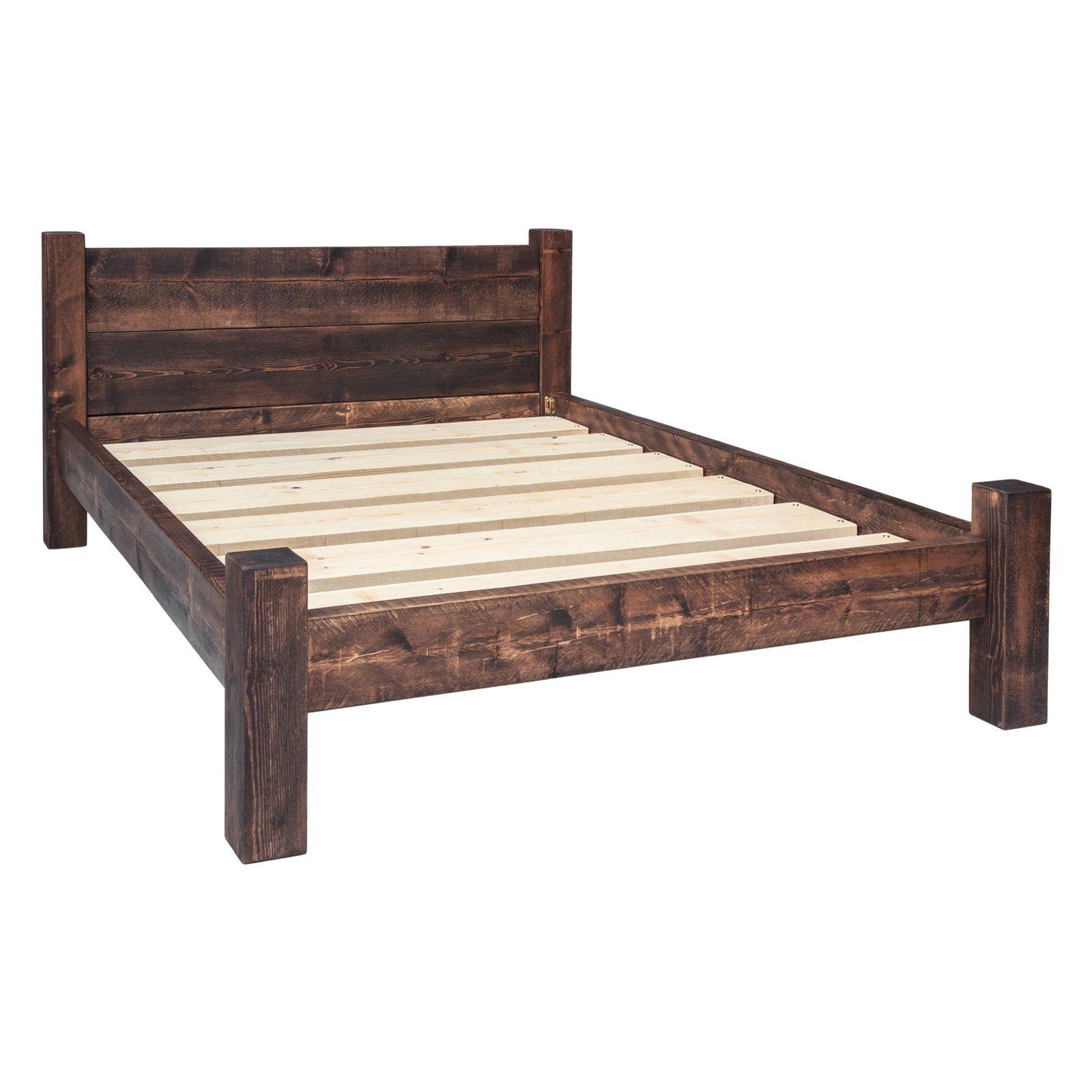 Double Plank Headboard Bed Frame | Camas, Camas de madera y Carpinteria