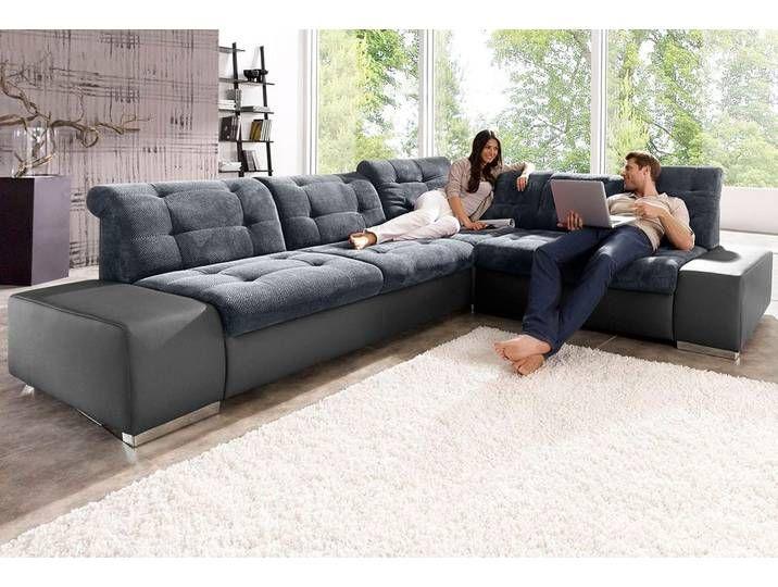Sit More Ecksofa Auch Mit Bettfunktion Grau Luxus Kunstleder Softst Sofa Home Decor Couch