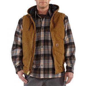 Carhartt Men's Hooded Active Vest - Carhartt Brown - Mills Fleet Farm