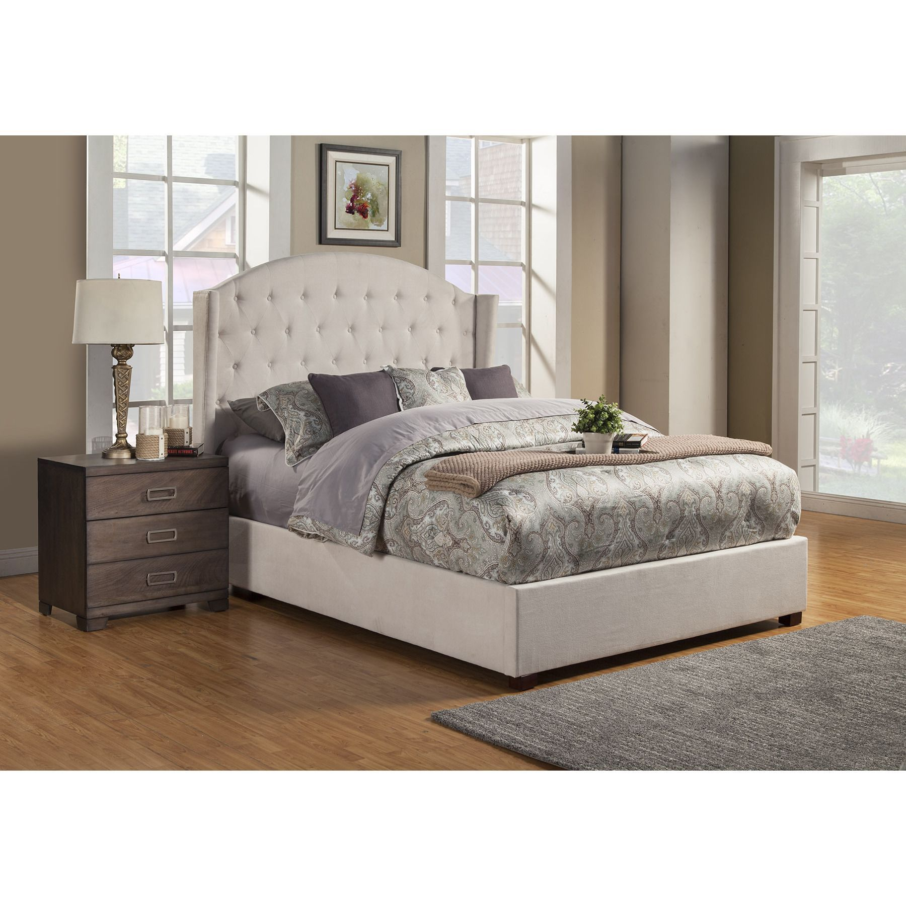 Alpines Ava Cream Wood Buscheliges Gepolstertes Bett Https