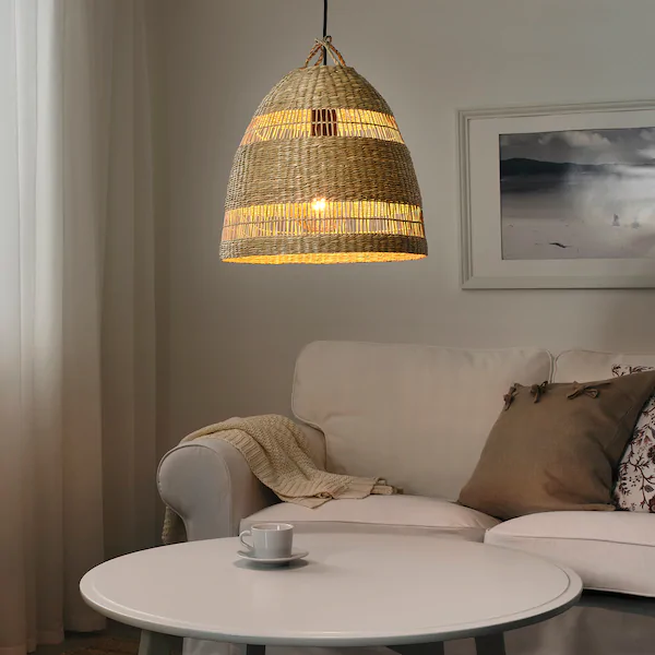 TORARED Pendant lamp shade, seagrass, Height: 13