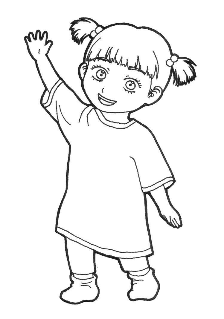 Monsters Inc Boo Coloring Pages Dibujos Para Colorear Disney Colorear Disney Disney