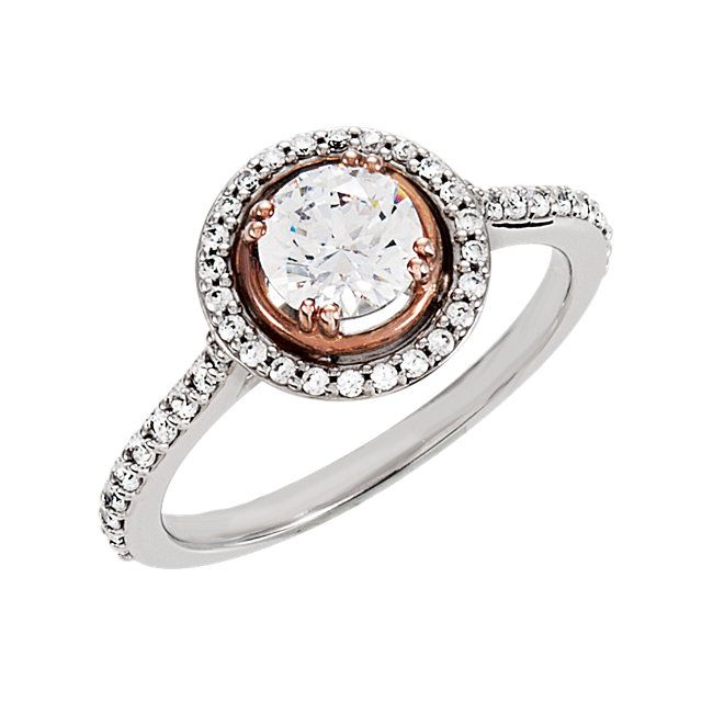 Angara Heart Carved Shank Black Diamond Solitaire Ring(5.8mm) in Rose Gold sA7N3dfx