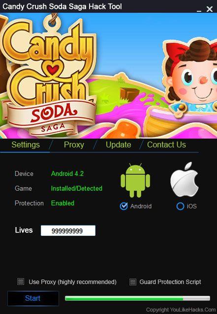 access online generator candy crush