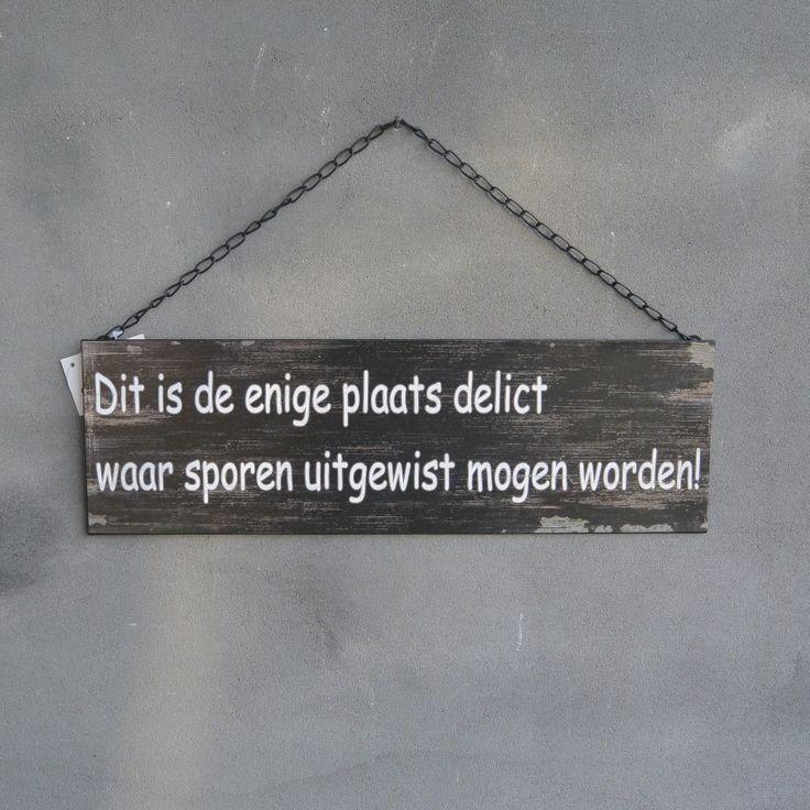 Pin van Gretha Schrijver-klaren op Tekst bordjes! | Pinterest - Wc ...