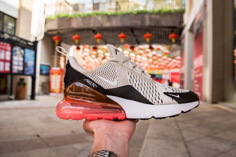 4aa8150e61e Nike Air Max 270 AH8050-003 Cream Red Shoes for Sale-04 Highlighting the  runner is its Hot Punch Air Max 270 sole unit.