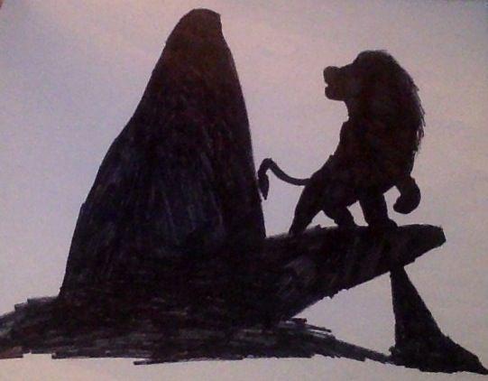 Lion King Pride Rock Silhouette By Lexothewolf On
