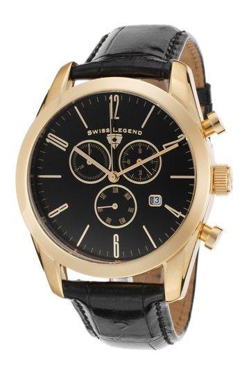 Men's Peninsula Chronograph Watch by SWI Group on @HauteLook