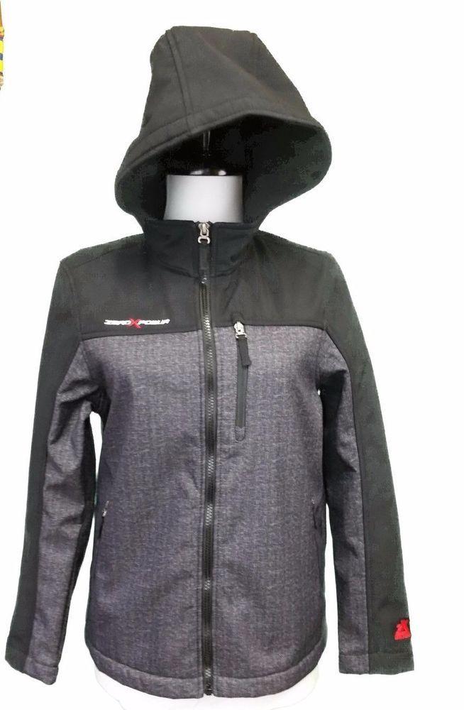 ZeroXposur Hooded Jacket Boys Performance Youth 14 16 Light Grey Coat Fleece Lin #ZeroXposur #BasicJacket #Everyday