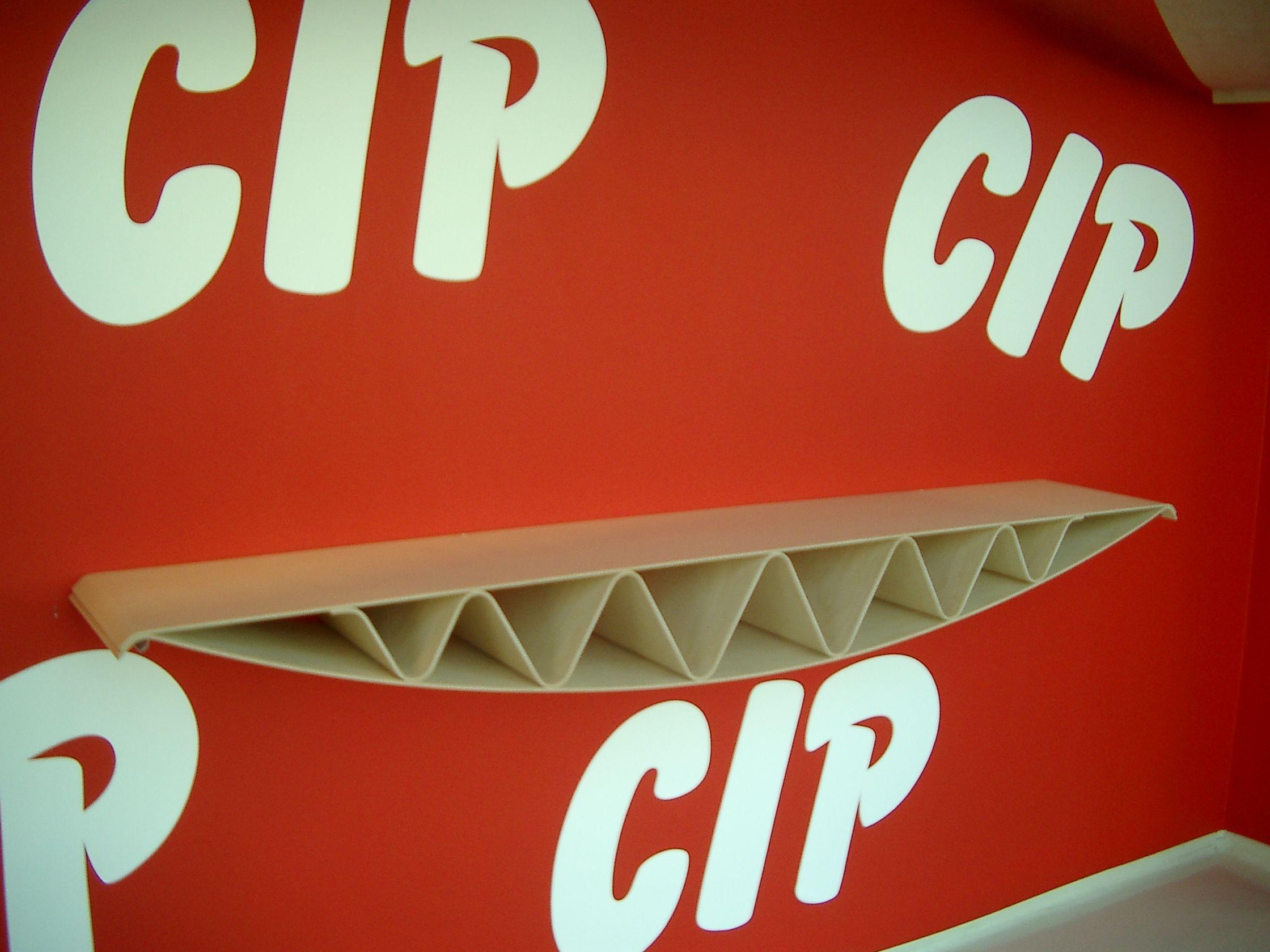 CIP CIP CIP CIP wood shelf