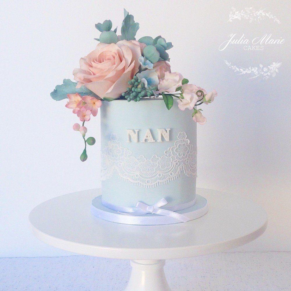 Single tier decorated cake let them eat cake pinterest eat