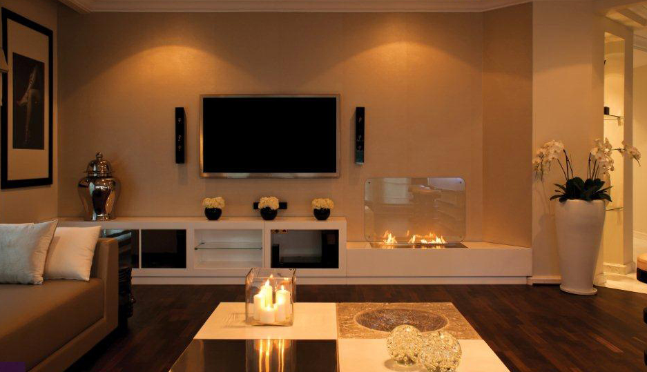 Modest Modern Living Room Design With Fireplace On Ideas Clean Glasses For Winter Preparation