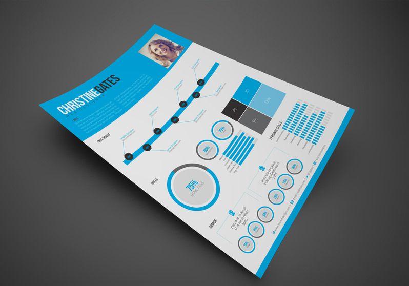 Modern Infographic Resume Infographic Resume Indesign Resume Template Infographic Resume Template