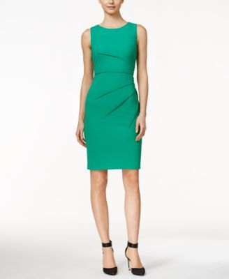 bbcf089a Go from office to dinner in this wear-anywhere sheath from Calvin Klein. |  Polyester/spandex | Dry clean | Imported | Scoop neckline | Hidden back  zipper ...