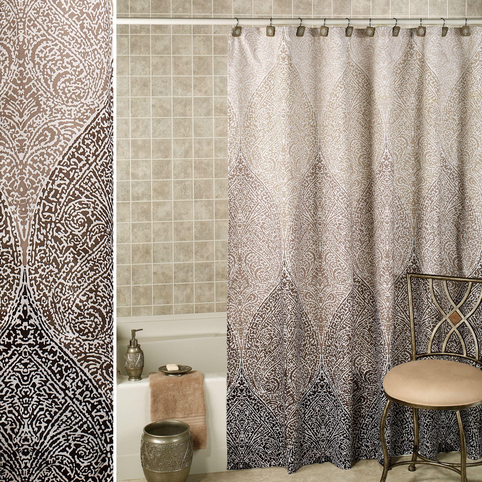 Casablanca Shower Curtain Silver Purple Shower Curtain Lace